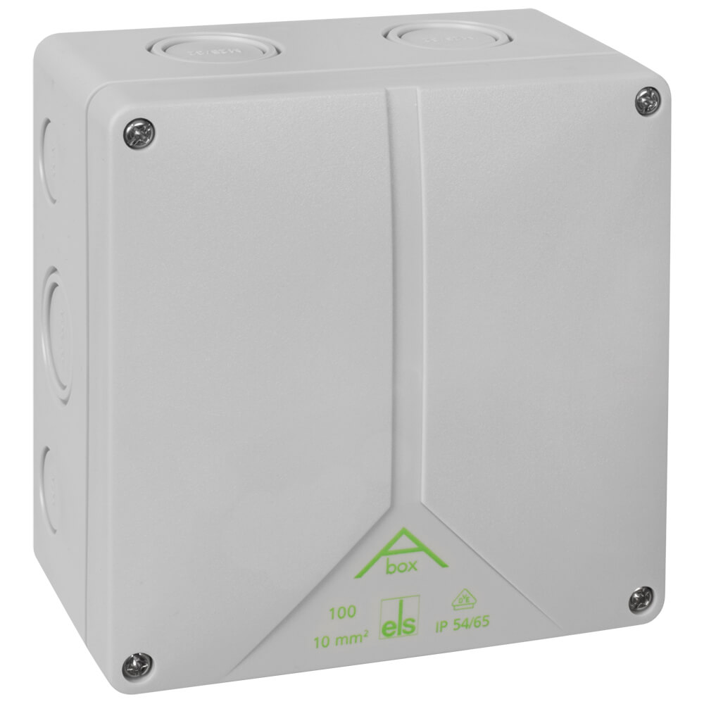 2-Komponenten-Kabeldose, ABOX 100-10², AP, 12 Einführungen für Kabel ...