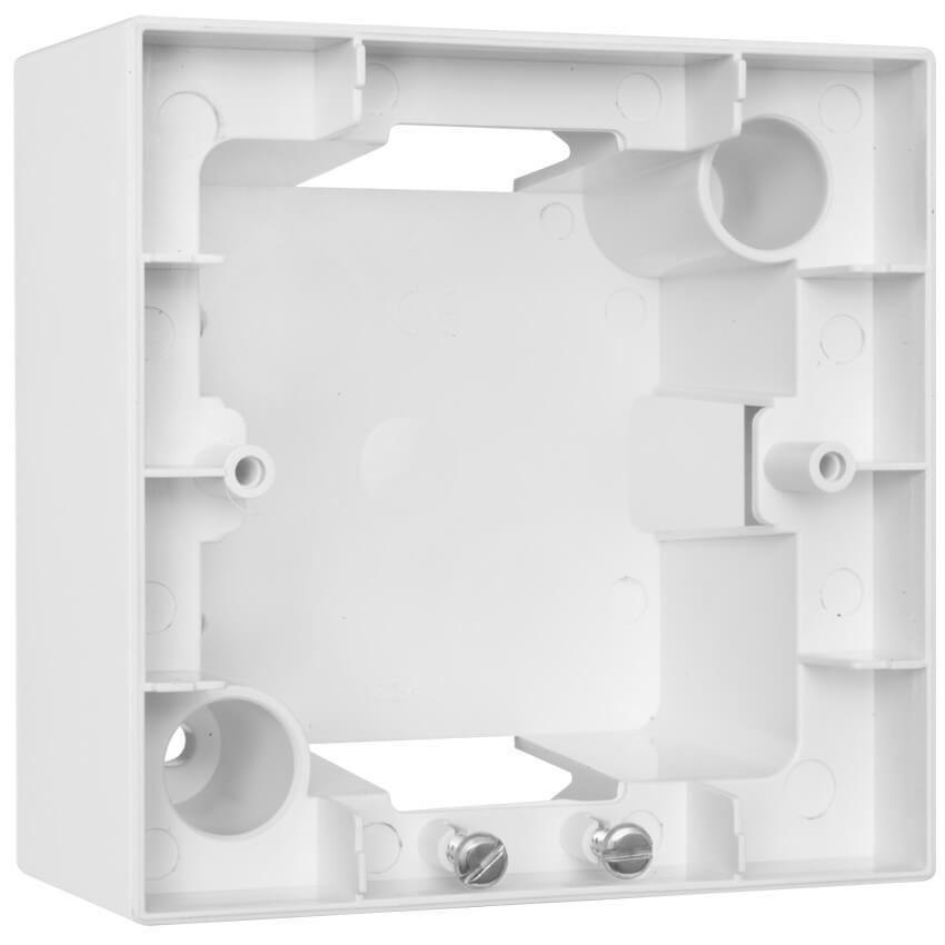 aufputzgeh use f r schalter steckdosen und ger te 1 fach meridian reinwei meridian. Black Bedroom Furniture Sets. Home Design Ideas
