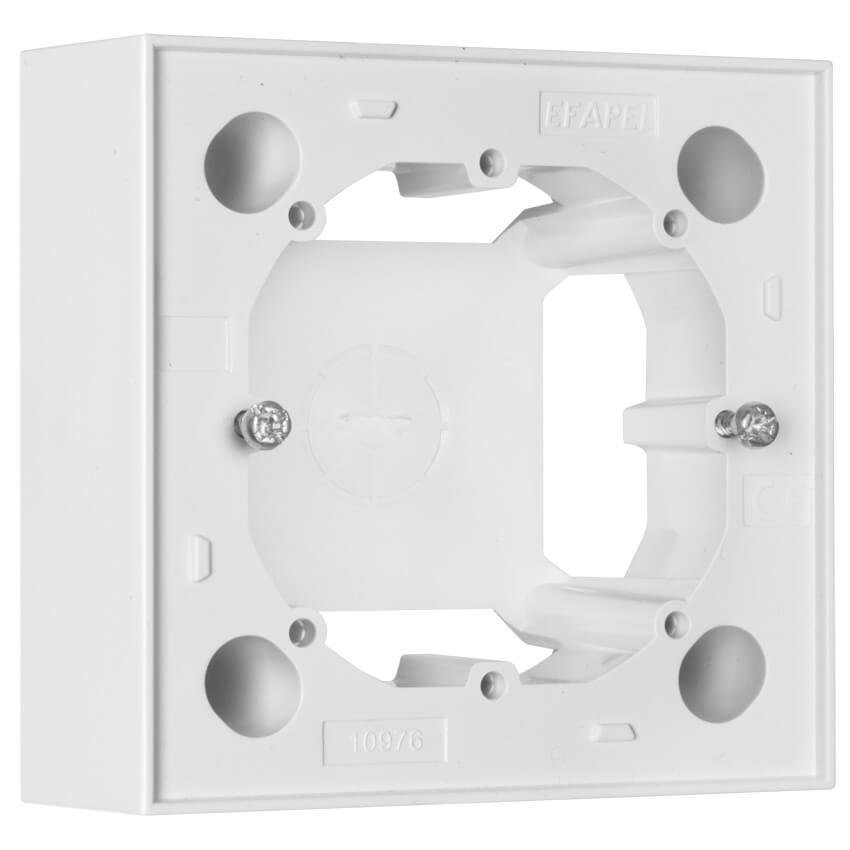 aufputzgeh use f r schalter steckdosen und ger te 1 fach logus 90 signalwei efapel. Black Bedroom Furniture Sets. Home Design Ideas