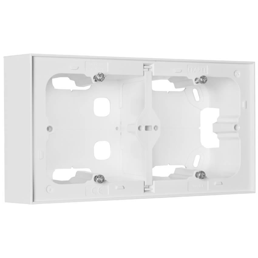 aufputzgeh use f r schalter steckdosen und ger te 2 fach logus 90 signalwei efapel. Black Bedroom Furniture Sets. Home Design Ideas