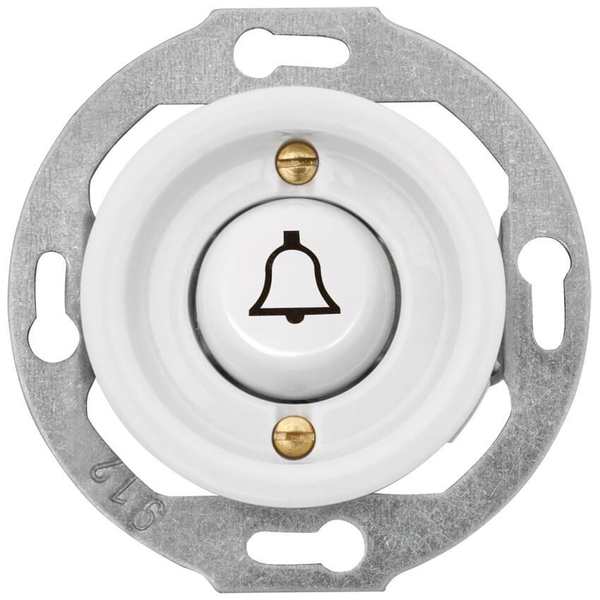 Kombi-UP-Tastereinsatz, mit Symbol \'Klingel\', 10A/250V, Porzellan ...