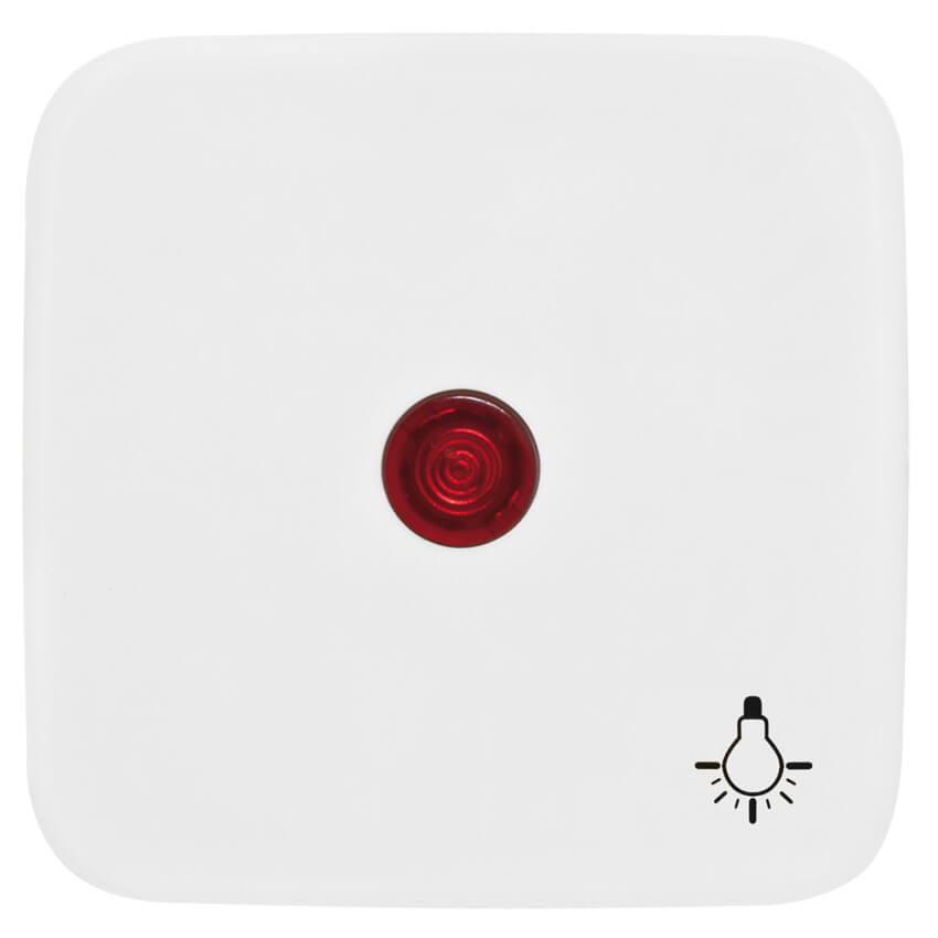 Wippe für Taster, mit Symbol \'Licht\' und Linse, KLEIN SI® reinweiß ...