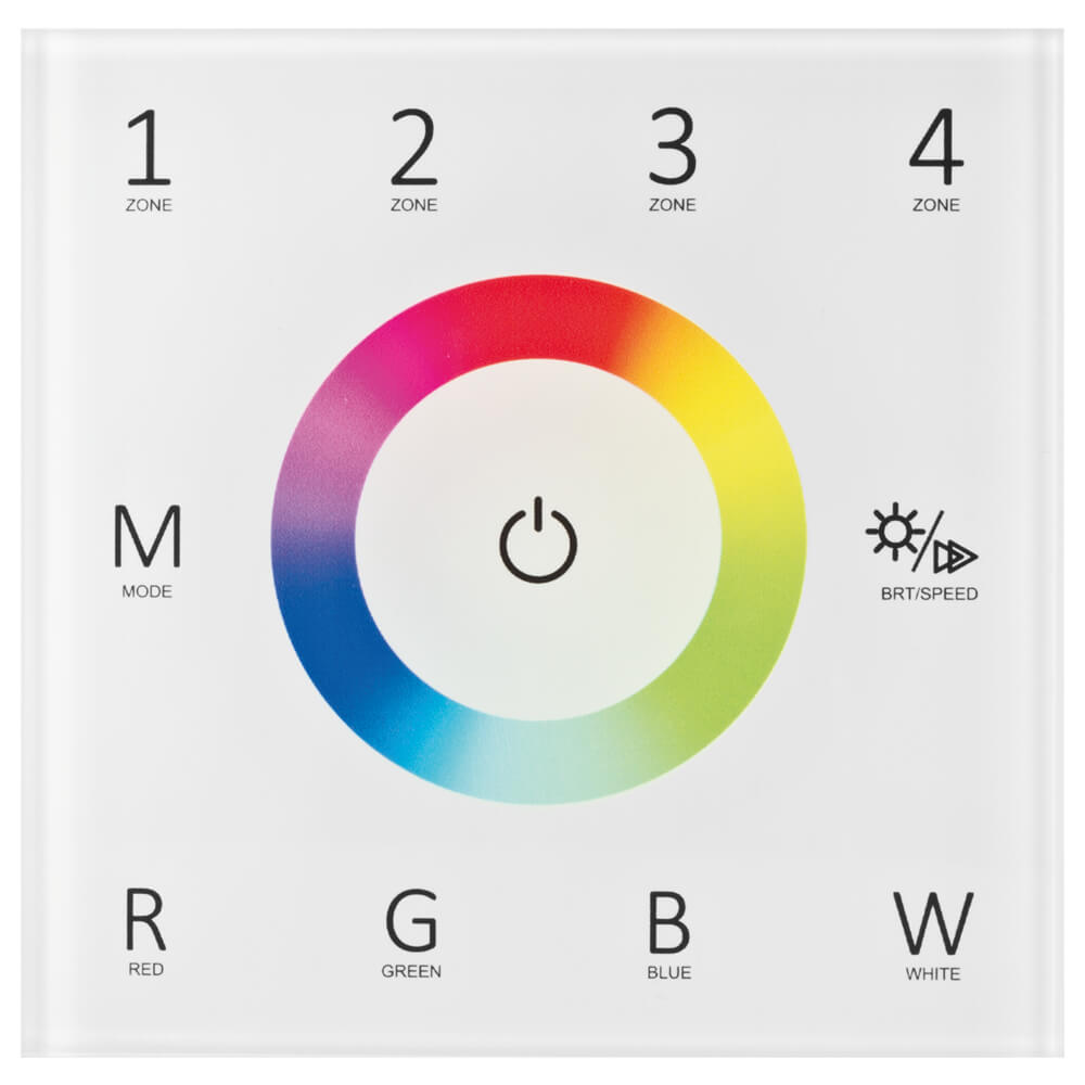 RGB/W-Color-Funk-Touchpanel, EASY CONNECT, 4-Zonen