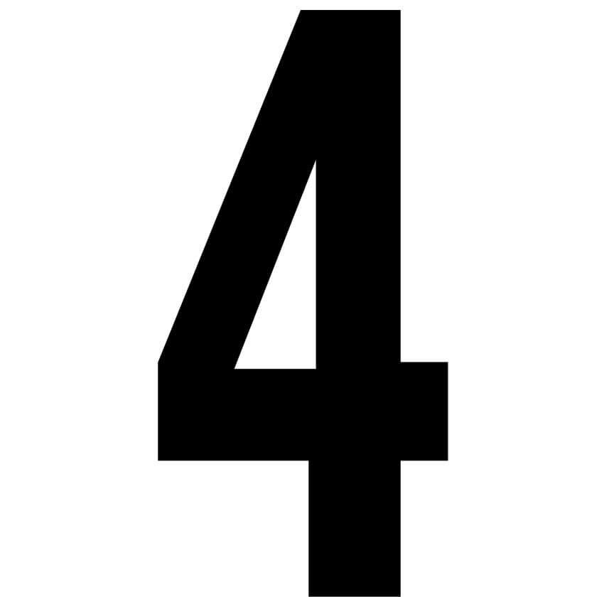 Zeichen für Hausnummernleuchten, stabile klebefeste Folienzeichen, H ...