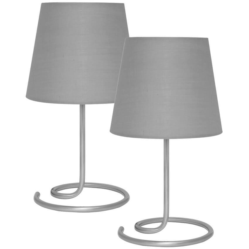 2 tischleuchten je 1 x e14 40w tischleuchten wohnraumleuchten leuchten beleuchtung max. Black Bedroom Furniture Sets. Home Design Ideas