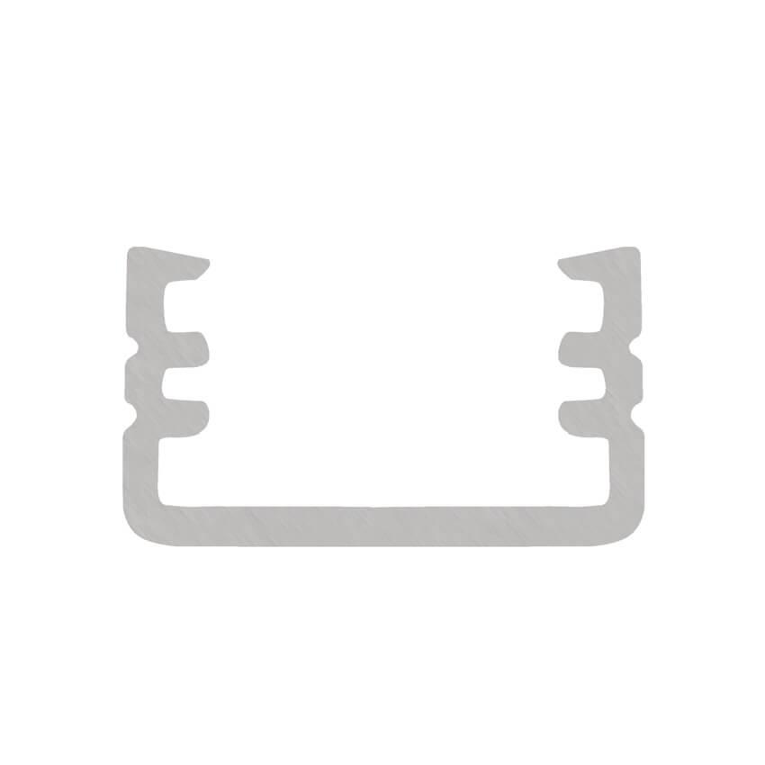 u profil aus aluminium f r led strips bis 8 mm u. Black Bedroom Furniture Sets. Home Design Ideas