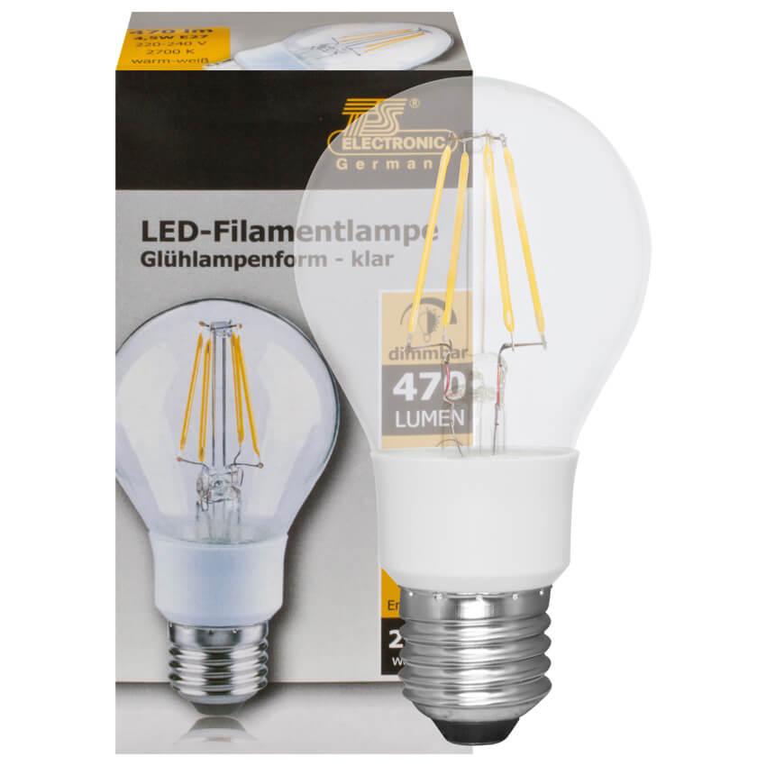 filament led lampe agl form klar e27 230v led filamentlampen led leuchtmittel leuchtmittel. Black Bedroom Furniture Sets. Home Design Ideas