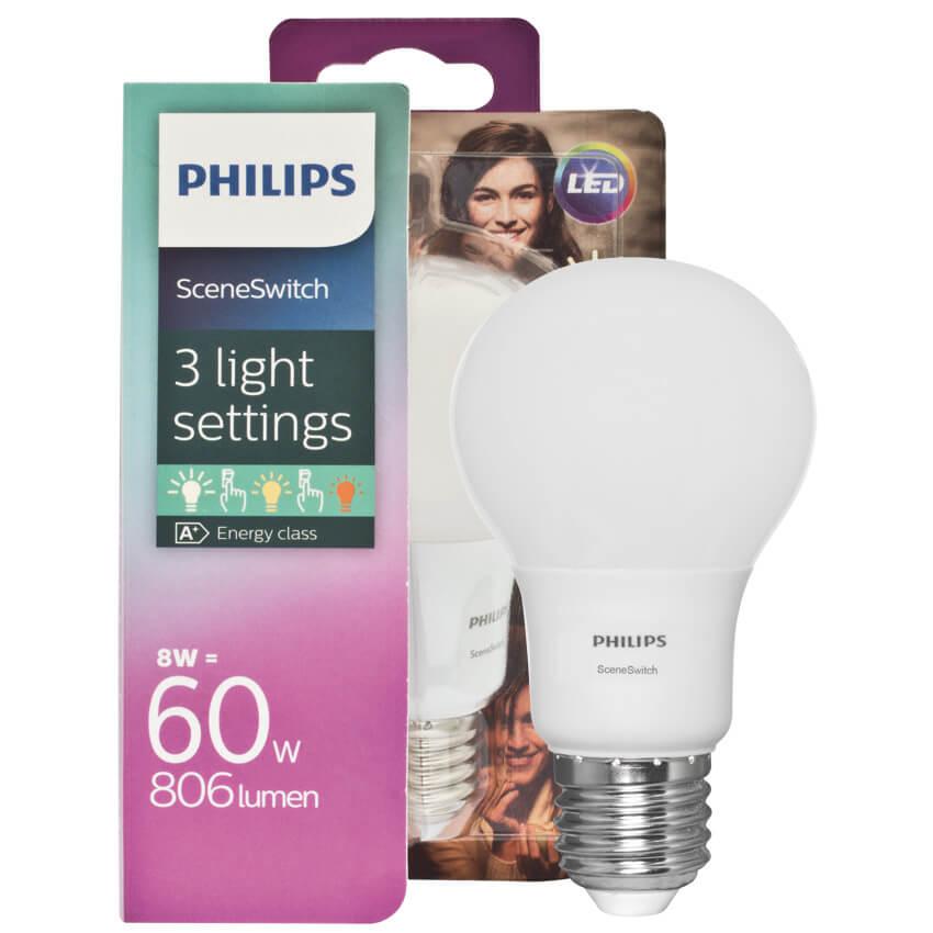LED-Lampe, SCENE SWITCH, DimTone, AGL-Form, matt, E27/240V/8W, (60W ...