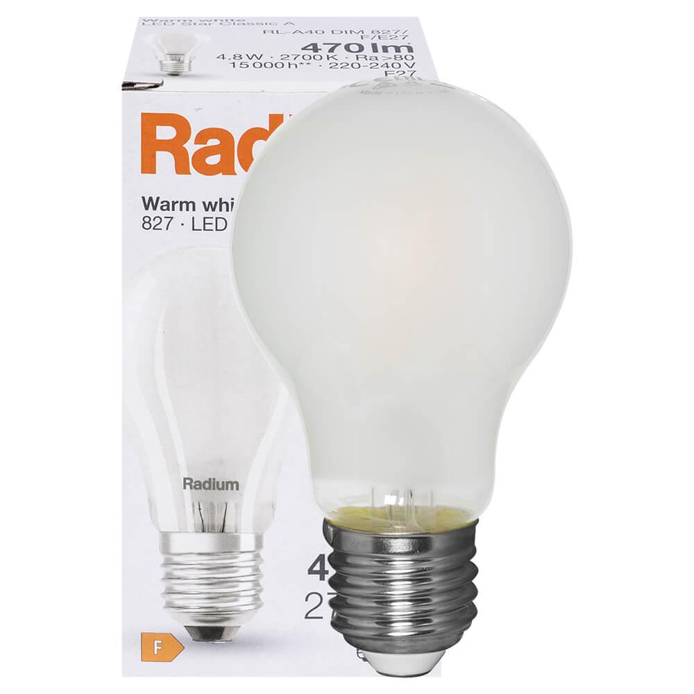 LED-Lampe, RaLED STANDARD, AGL-Form, matt, E27/240V, Lebensdauer ...