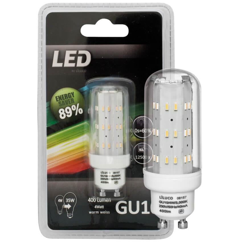 LED-Röhrenlampe, klar, GU10/230V/4W (35W), 400 lm Lebensdauer 25.000 ...