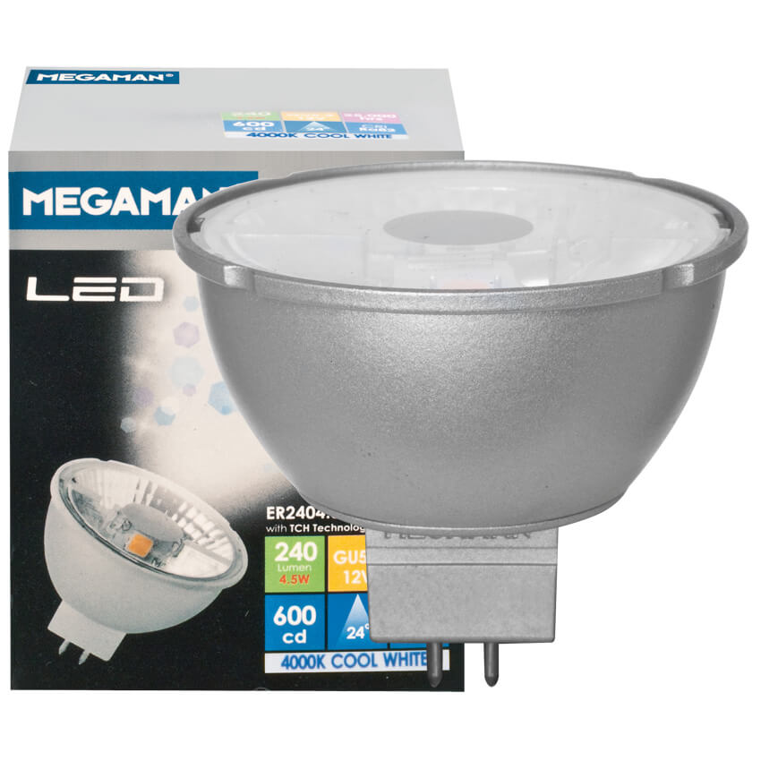 LED-Reflektorlampe, MR16, GU5,3/12V/4,5W (22W), 240 lm