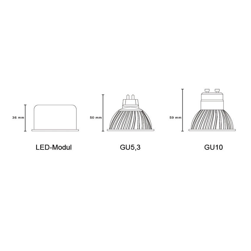 LED-Modul, PAR/MR16, 240V/6W (60W), 400 lm,  H 36  Bild 2