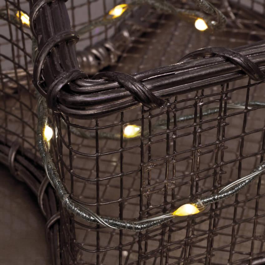 led minilichterkette 20 warmwei e leds batteriebetrieben led drahtlichterketten batterie. Black Bedroom Furniture Sets. Home Design Ideas