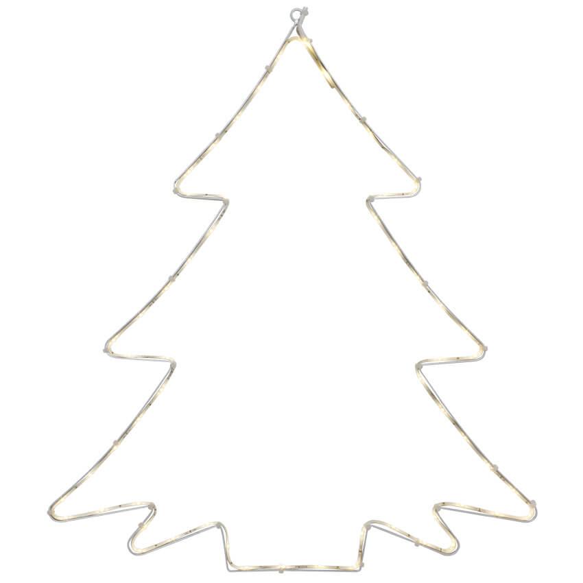 Tannenbaum Led.Led Silouette Lumiwall Tannenbaum 60 Warmweiße Leds Silhouetten