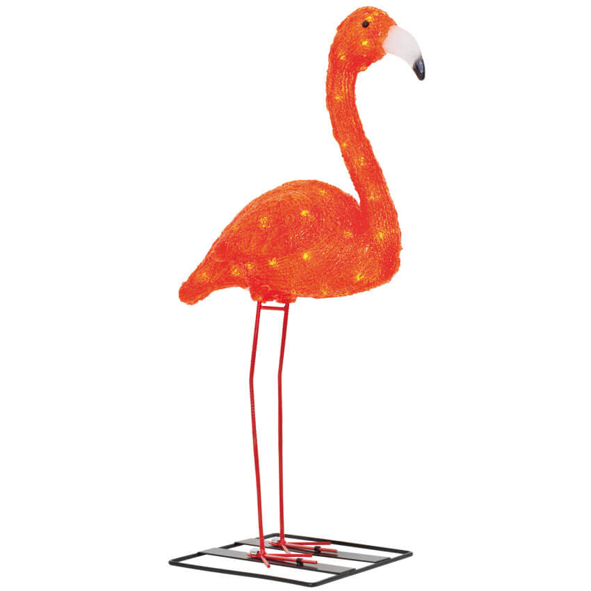 LED-Gartendekofigur  FLAMINGO, 48 LEDs