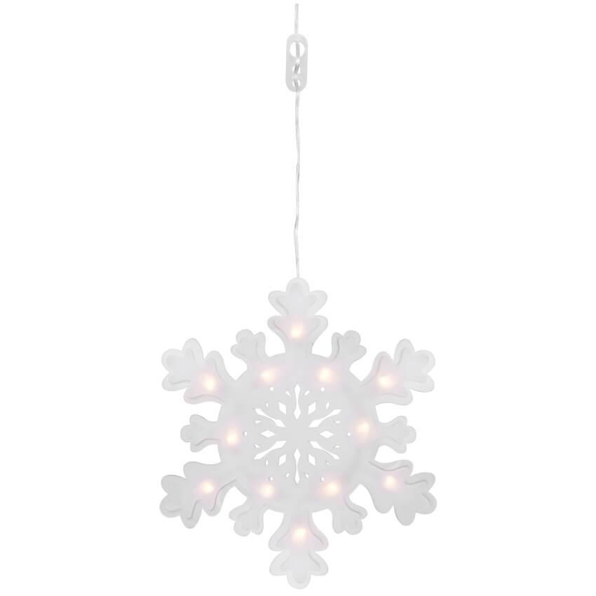Led fensterbild schneeflocke 12 warmwei e leds 230 weihnachten sonderverkauf weihnachten - Led fensterbild ...
