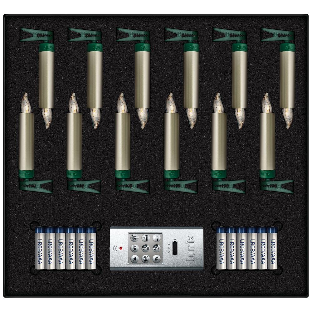 kabellose led kerzen lumix deluxe mini cashmerefarbener. Black Bedroom Furniture Sets. Home Design Ideas