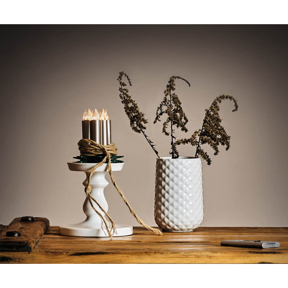 kabellose led kerzen lumix deluxe mini cashmerefarbener schaft kabellose kerzen. Black Bedroom Furniture Sets. Home Design Ideas