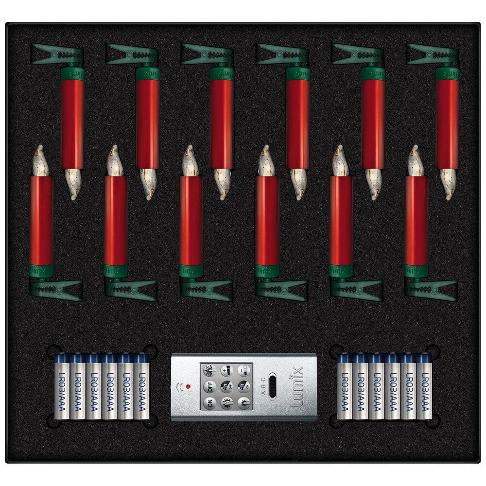 kabellose led kerzen lumix deluxe mini rot kabellose kerzen lichterketten und netze innen. Black Bedroom Furniture Sets. Home Design Ideas