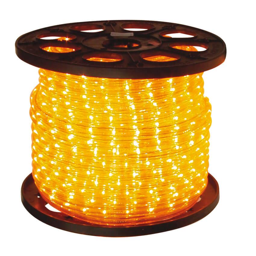 led lichtschlauch 36 gelbe leds pro meter 13 44 meter rolle ip44 led lichtschlauch rund. Black Bedroom Furniture Sets. Home Design Ideas