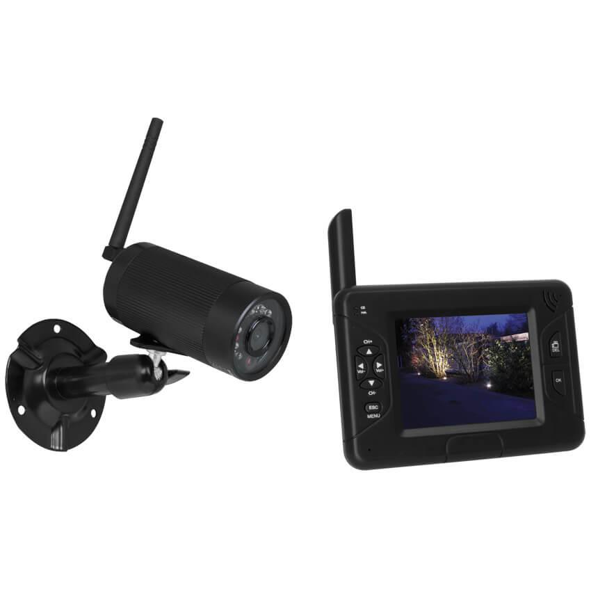 digitales funk kamera berwachungs system df25a video berwachung haustechnik max. Black Bedroom Furniture Sets. Home Design Ideas