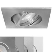 NV/HV-Einbauleuchte, 1 x GU10/230V/50W und 1 x GU5,3/12V/50W, mit Feder-Leuchtmittelhalterung