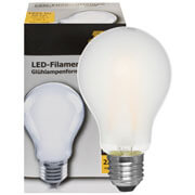 Filament-LED-Lampe,  AGL-Form, matt,  E27/230V