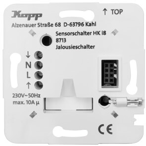 UP-Leistungsteil, 230V, Jalousieschalter, 10A, HK i8