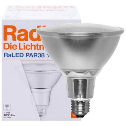 led reflektorlampe raled star e27 240v 11w par38 15 lebensdauer stunden led. Black Bedroom Furniture Sets. Home Design Ideas