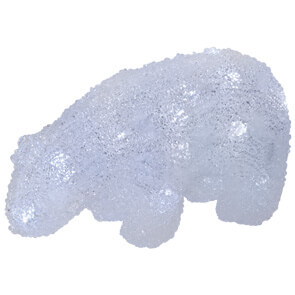 LED-Acryleisbär, ICE BEAR BABY, 20 LEDs, L 200, H 110, B 80