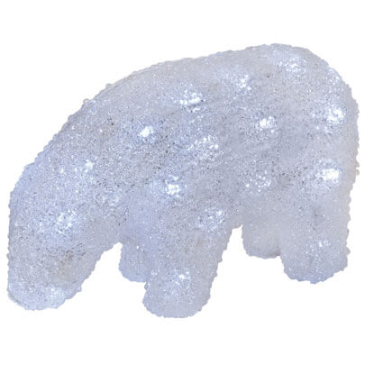 LED-Acryleisbär, ICE BEAR BABY, 40 LEDs, L 230, H 150, B 90