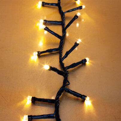 led clusterlightkette extrawarmwei e leds led. Black Bedroom Furniture Sets. Home Design Ideas