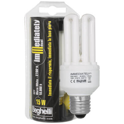 Energiesparlampe, E27, IMMEDIATELLY DUAL